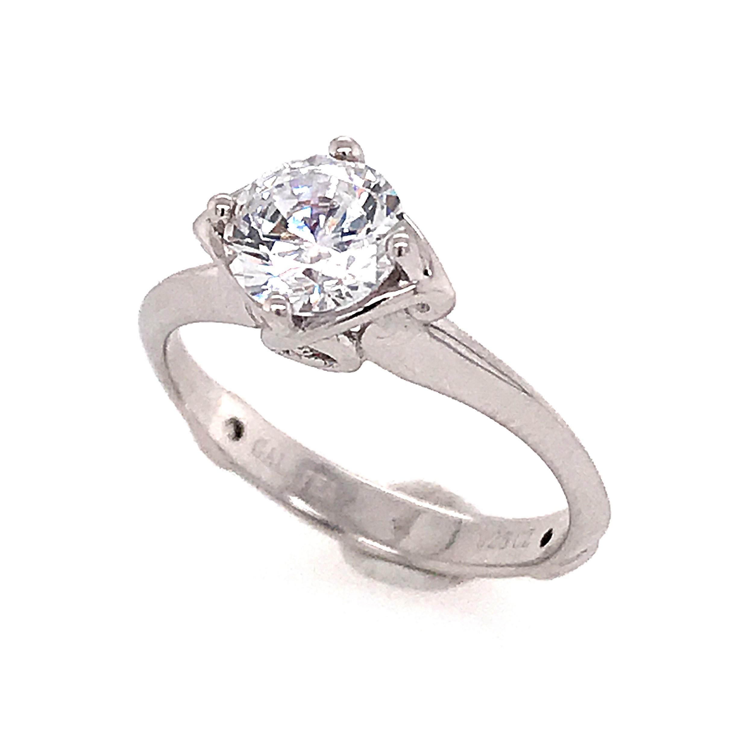 14 Karat White Gold Engagement Ring 001 100 00116 Tahoe City Bluestone Jewelry Tahoe City Ca