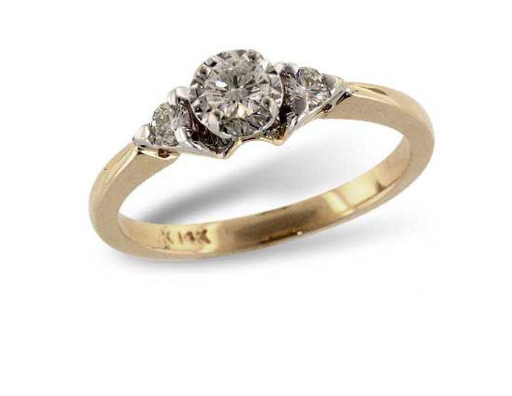 14 Karat Yellow And White Gold Engagement Ring 002 100 00341 Bluestone Jewelry Tahoe City Ca