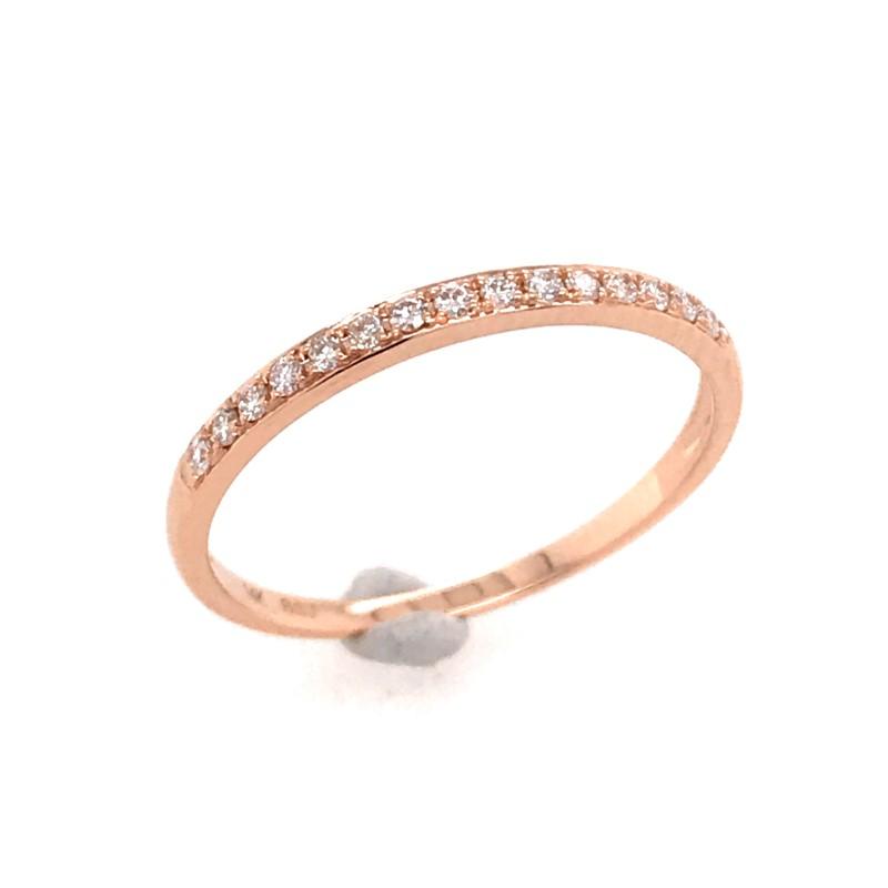 14 Karat Rose Gold Diamond Ring Size 8 002 200 04275 Bluestone Jewelry Tahoe City Ca