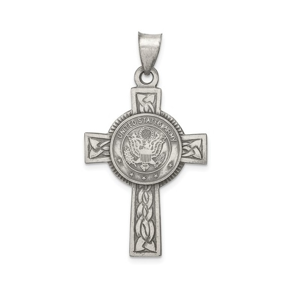 Army Pendant Sterling Silver Cross