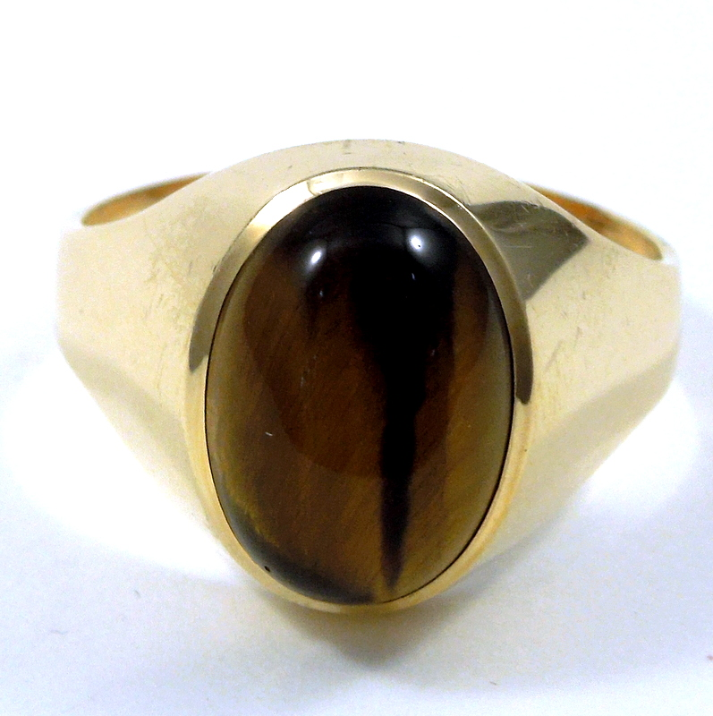 Gemstone Ring GTL Certified Tiger/'s Eye 925 Silver Astonishing Ring For Men