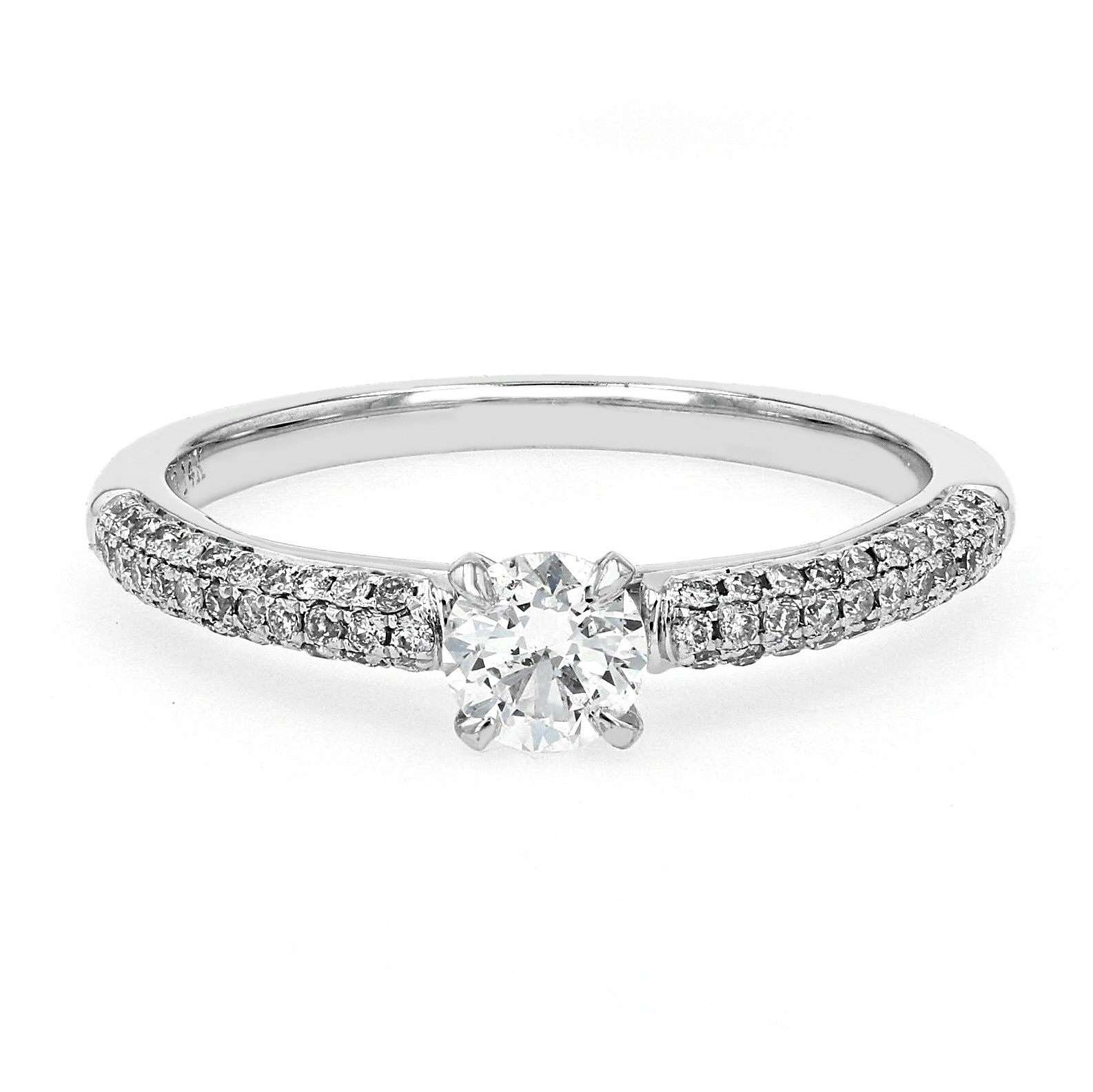 0 75tw Prive Micro Pave Canadian Diamond Engagement Ring La Mine D Or Moncton Nb