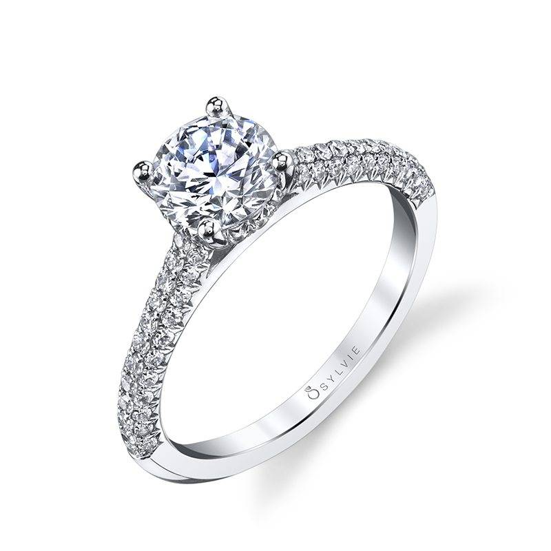 Elienor Micro Pave Solitaire Engagement Ring 001 100 01307 Mark Allen Jewelers Santa Rosa Ca
