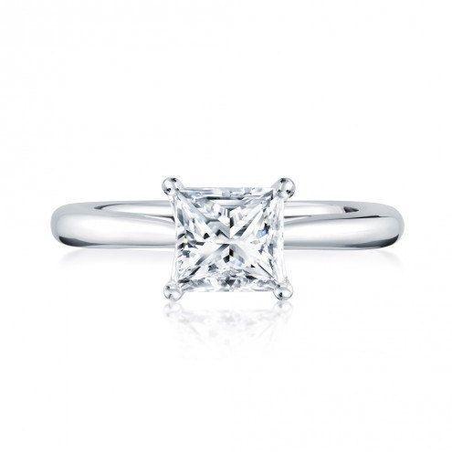 solitaire diamond princess cut