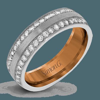 Lg183 Simon G White Rose Gold Diamond Wedding Band Svs Fine Jewelry Svs Fine Jewelry Oceanside Ny