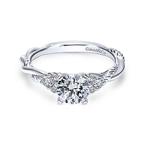 Er8817w44jj Gabriel Co Catalina 14k White Gold Engagement Ring Svs Fine Jewelry Svs Fine Jewelry Oceanside Ny