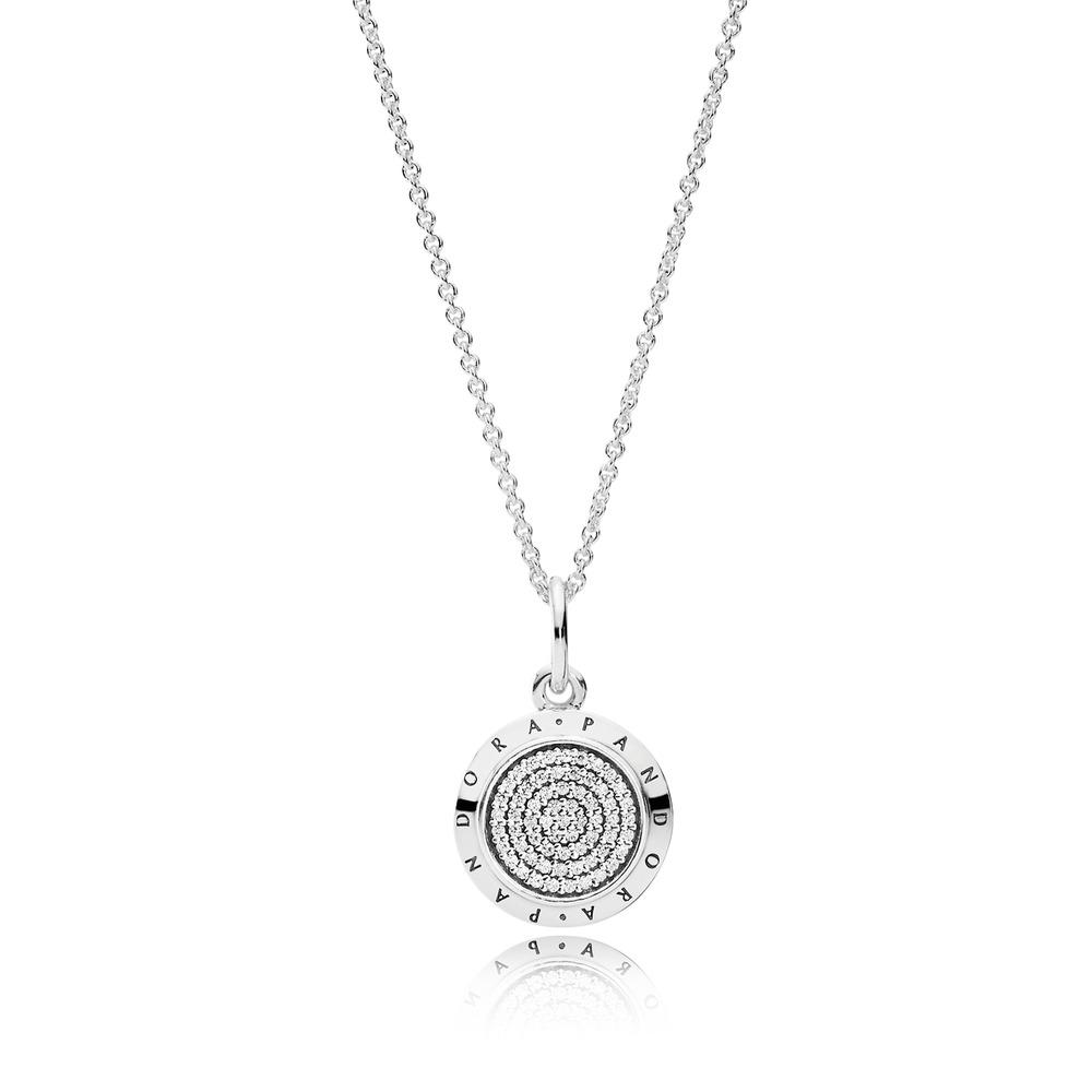 390375cz 70 Pandora Signature Collection Sterling Silver Necklace Svs Fine Jewelry Svs Fine Jewelry Oceanside Ny