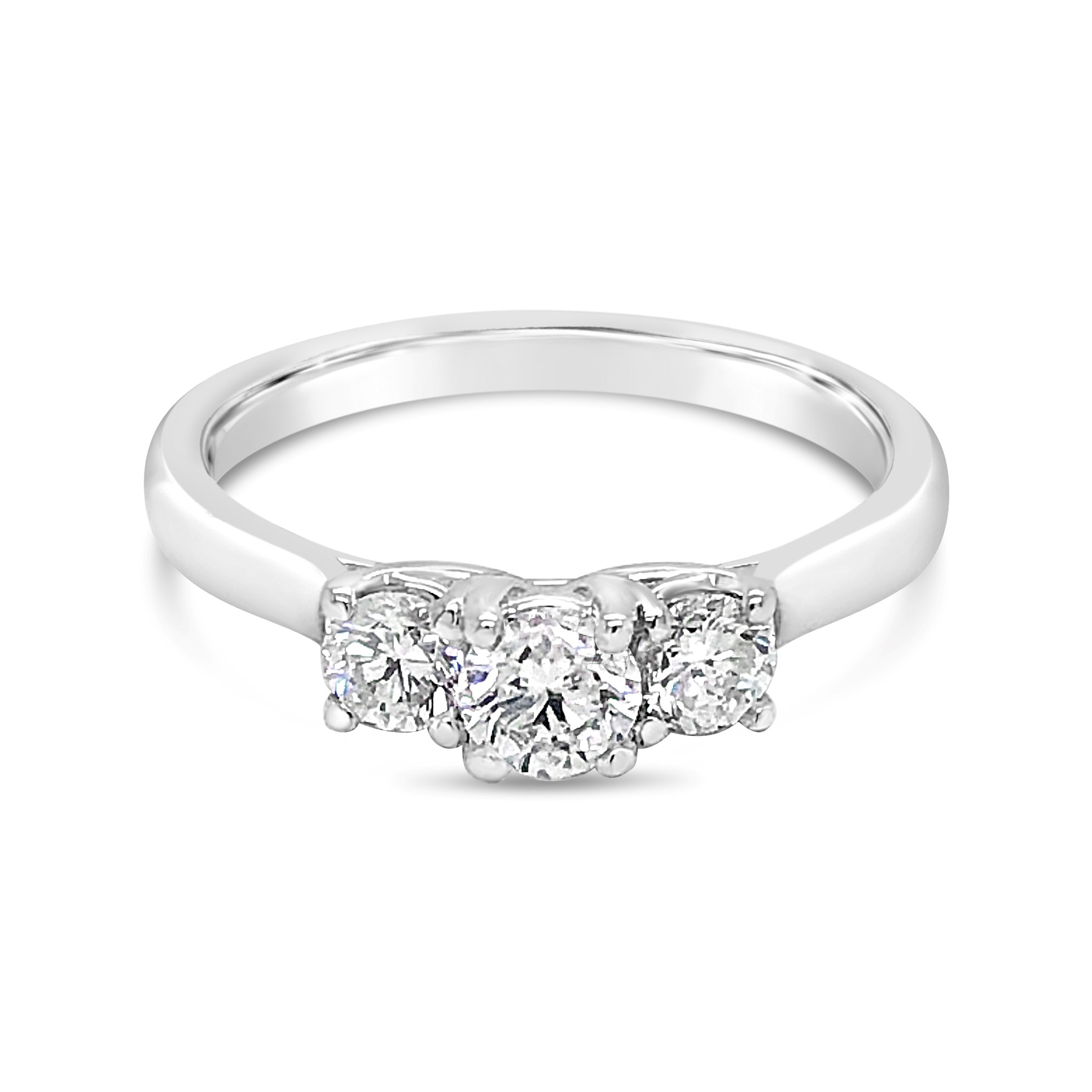 14k White Gold 3 Stone Solitaire Diamond Engagement Ring Texas Gold Connection Greenville Tx