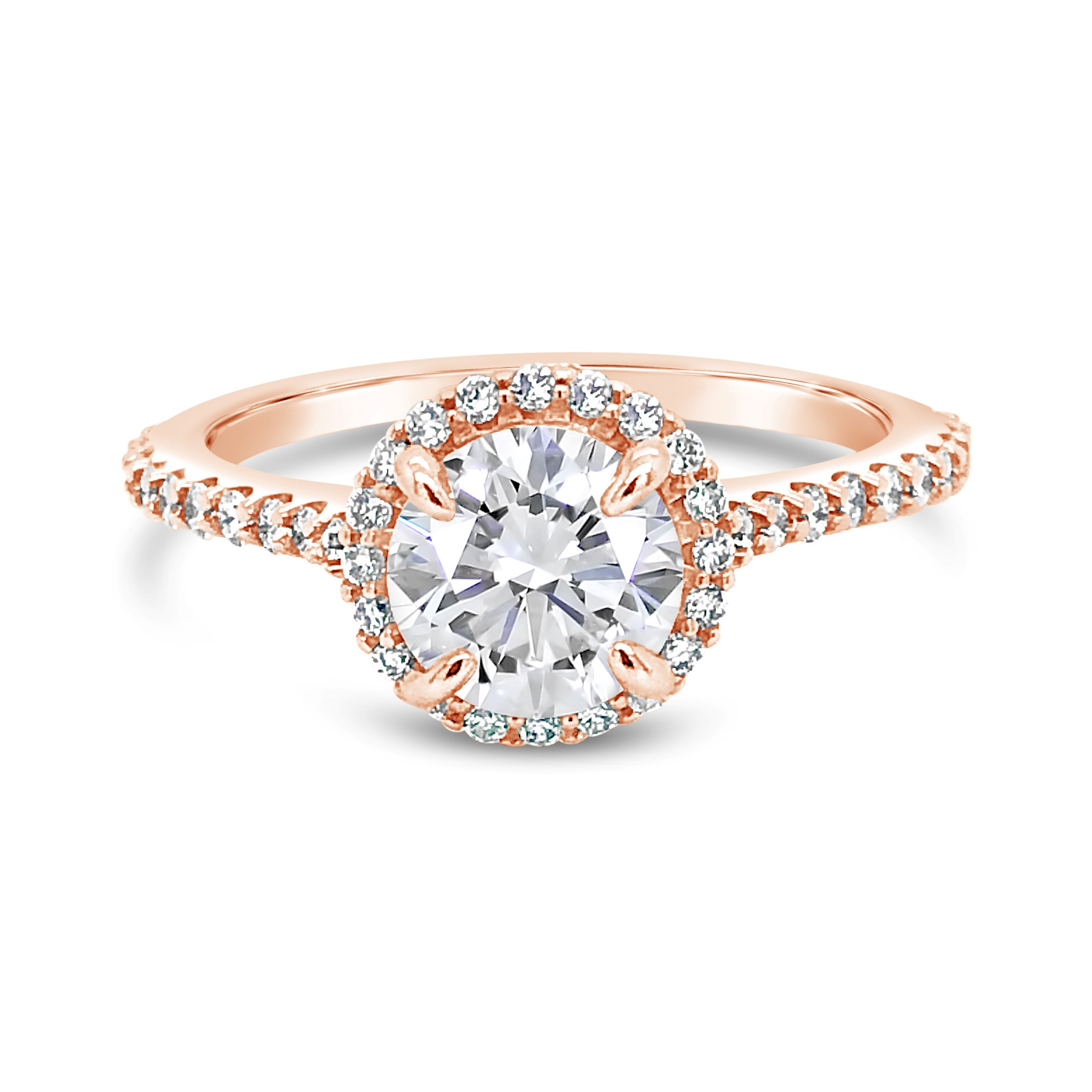 14k Rose Gold Moissanite 1 3 Ctw Diamond Engagement Ring Texas Gold Connection Greenville Tx