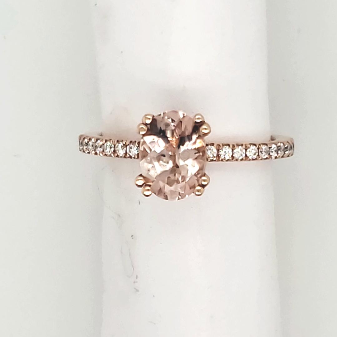 Gemstone Ring Morganite Morganite And Diamond 14 Karat Van Scoy Jewelers Wyomissing Pa